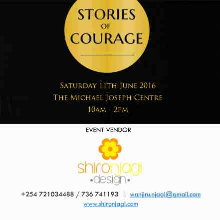 Shiro Njagi Design, a vendor at the June edition of Stories Of Courage Live. Contact them :)