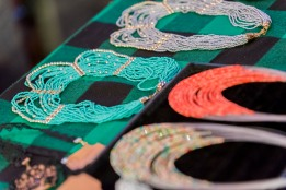 Zanta Beads, displaying their jewellery at Stories of Courage: June Edition. Image by Amos Ndumos Photography.