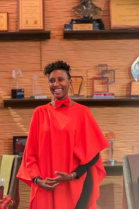 Nyawira Alison, featured guest performer, at Stories of Courage: June Edition. Image by Amos Ndumos Photography.