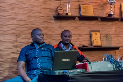 The brilliant Michael Joseph Centre technical team, at Stories of Courage: June Edition. Image by Amos Ndumos Photography.